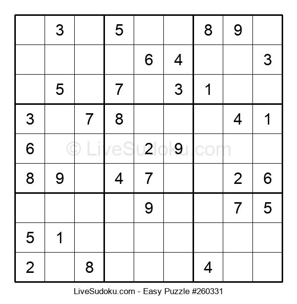 Beginners Puzzle #260331