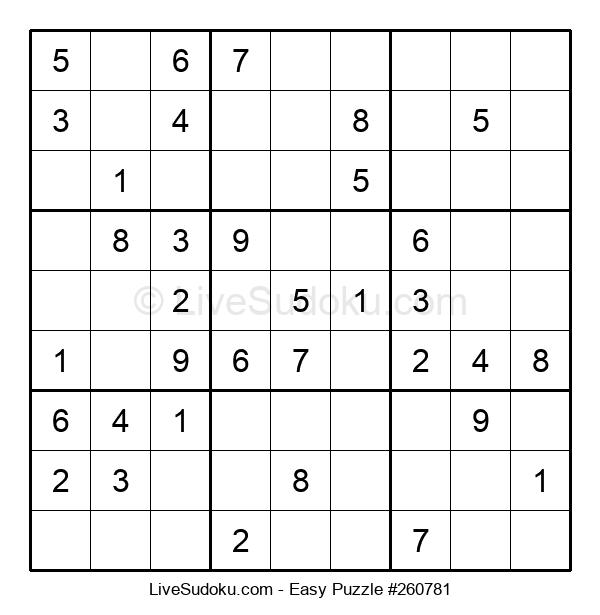 Beginners Puzzle #260781