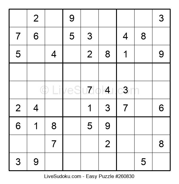 Beginners Puzzle #260830