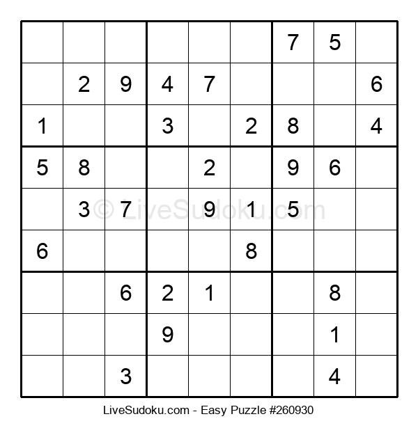 Beginners Puzzle #260930