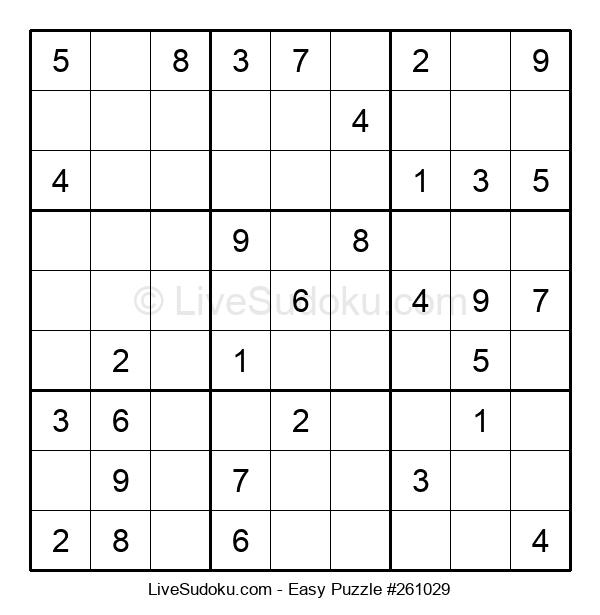 Beginners Puzzle #261029