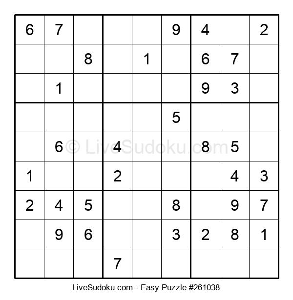 Beginners Puzzle #261038