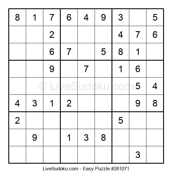 Beginners Puzzle #261071