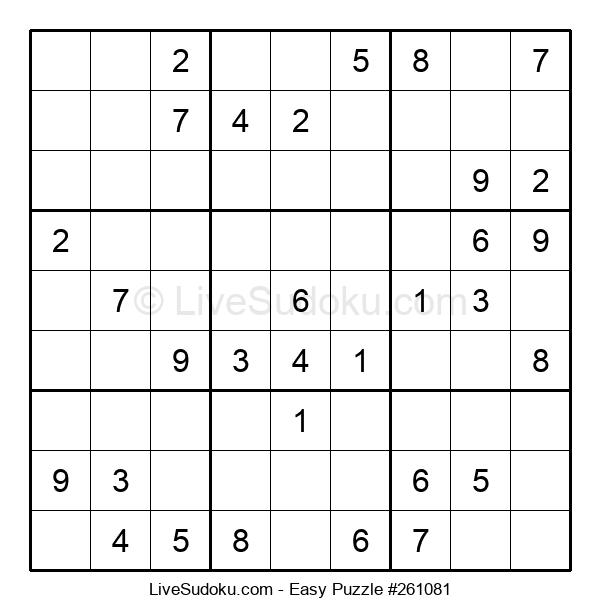 Beginners Puzzle #261081