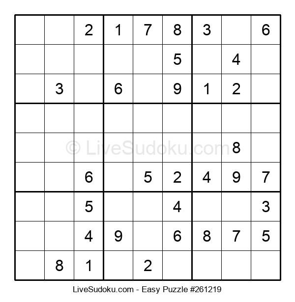 Beginners Puzzle #261219