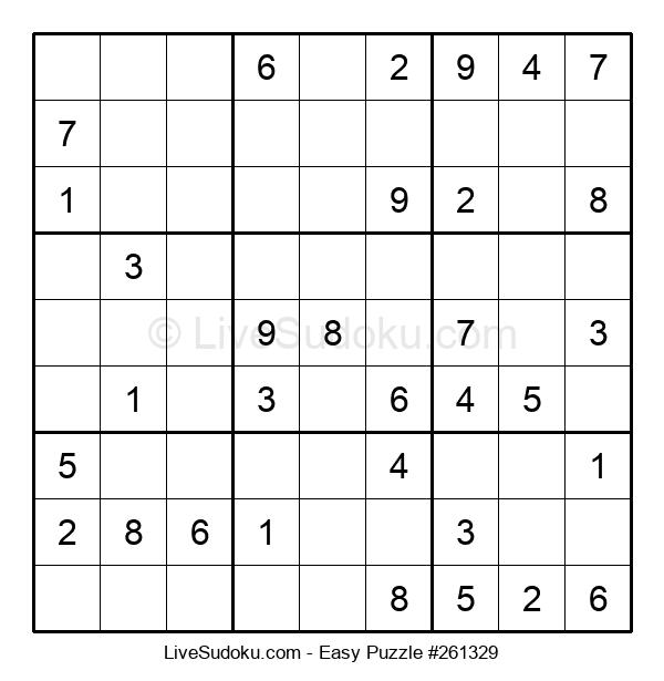 Beginners Puzzle #261329