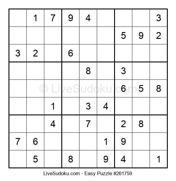 Beginners Puzzle #261759