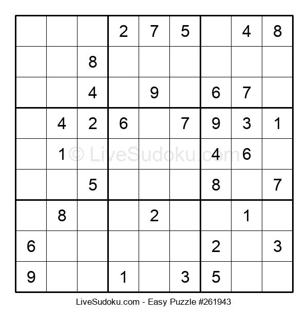 Beginners Puzzle #261943
