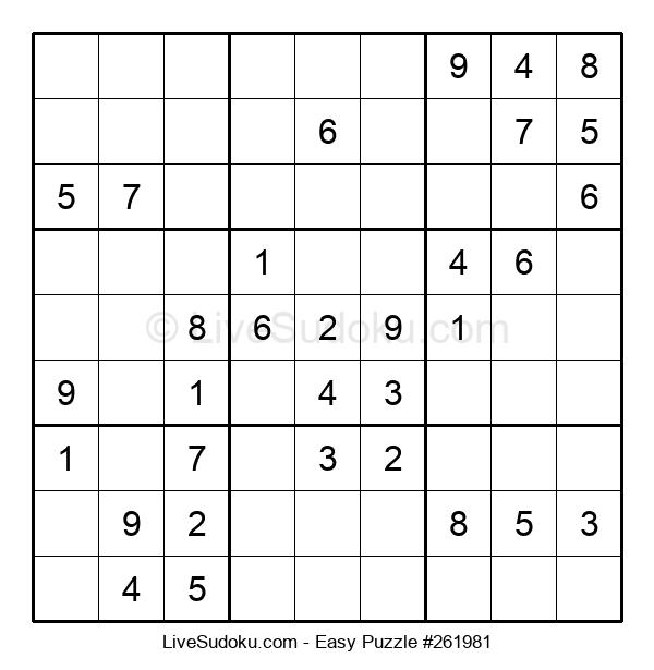 Beginners Puzzle #261981