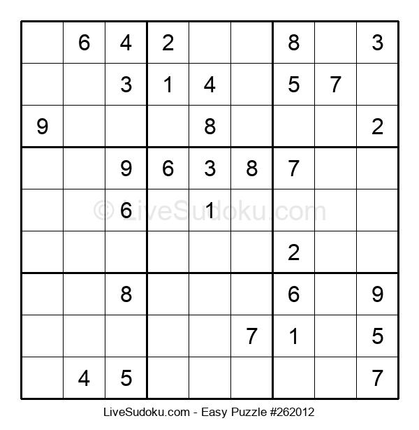 Beginners Puzzle #262012