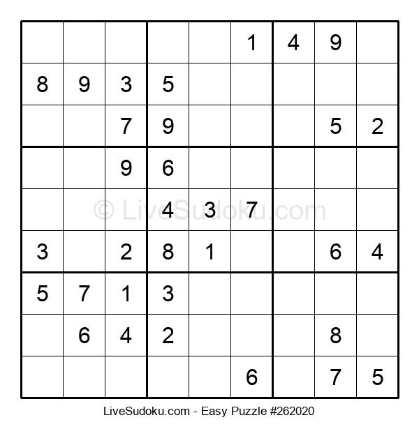 Beginners Puzzle #262020