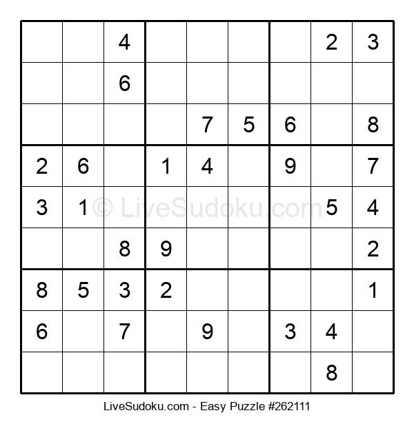 Beginners Puzzle #262111