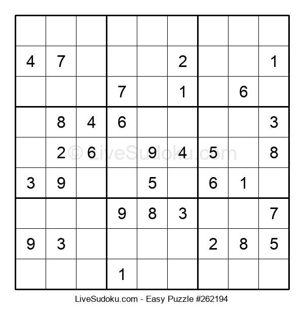 Beginners Puzzle #262194