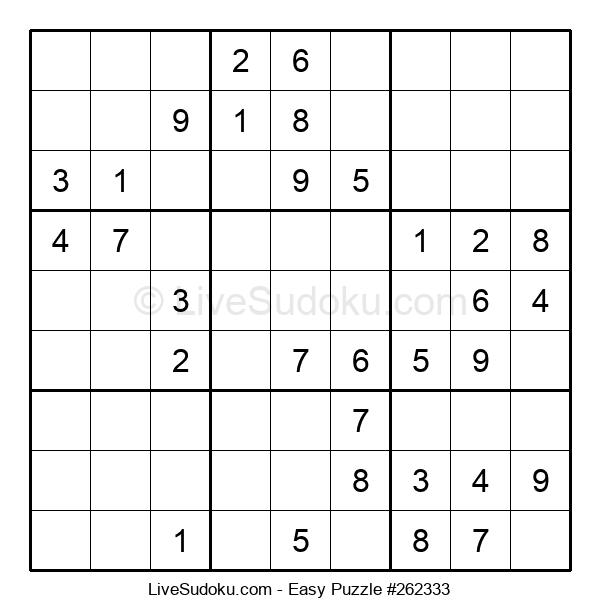Beginners Puzzle #262333