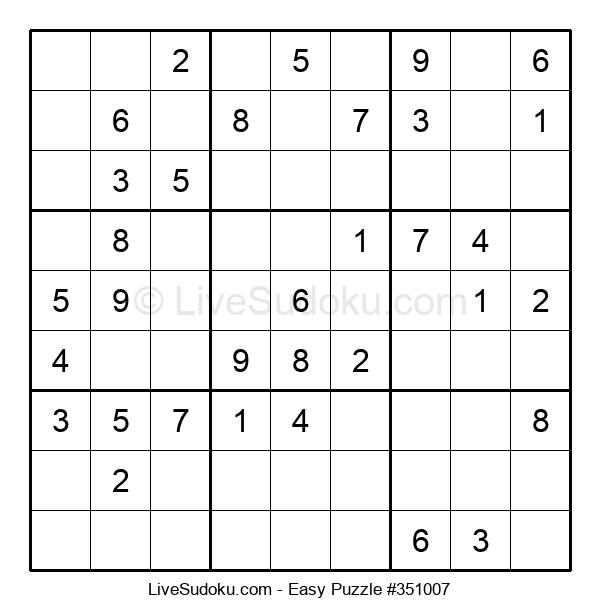 Beginners Puzzle #351007