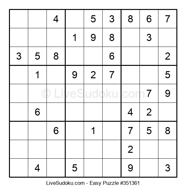 Beginners Puzzle #351361