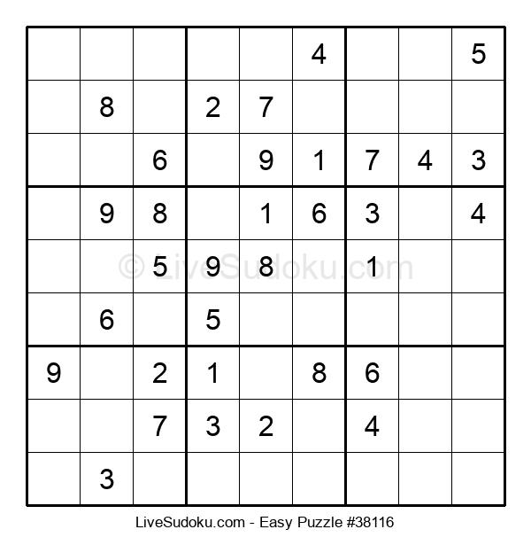 Beginners Puzzle #38116