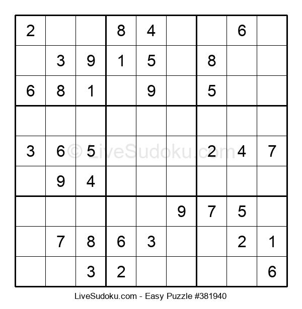 Beginners Puzzle #381940