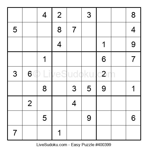 Beginners Puzzle #400399