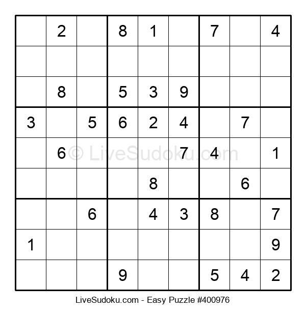 Beginners Puzzle #400976