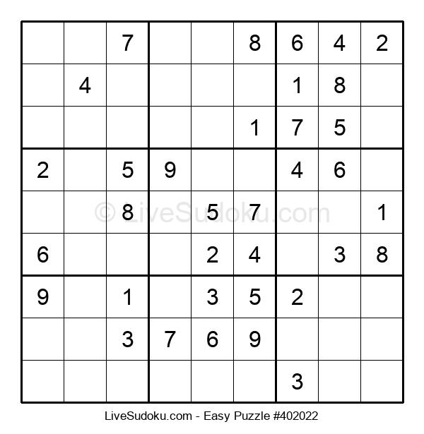 Beginners Puzzle #402022
