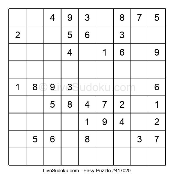 Beginners Puzzle #417020