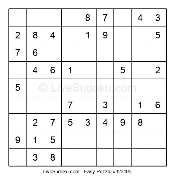 Beginners Puzzle #423495