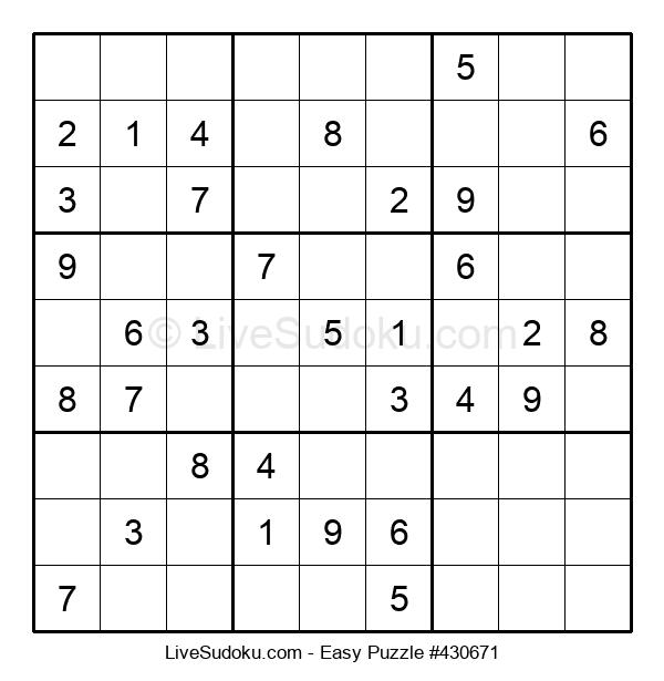 Beginners Puzzle #430671