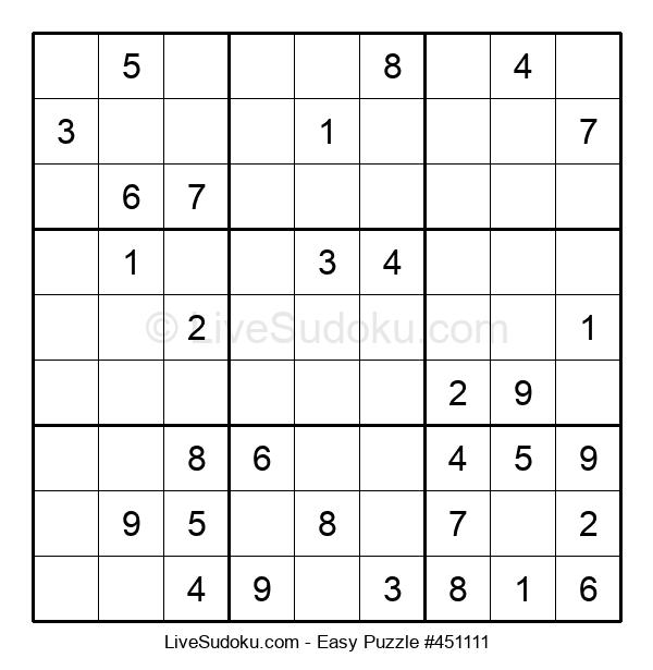 Beginners Puzzle #451111