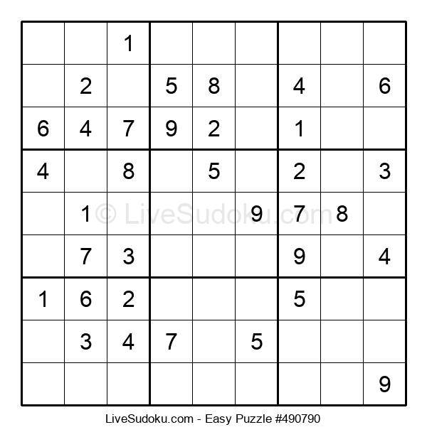 Beginners Puzzle #490790