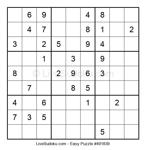 Beginners Puzzle #491839