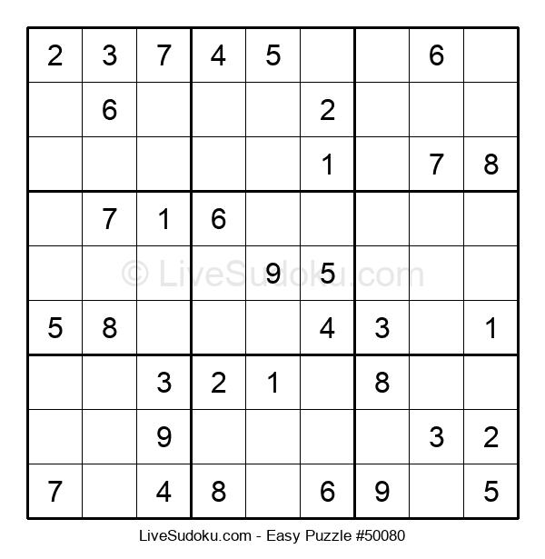 Beginners Puzzle #50080