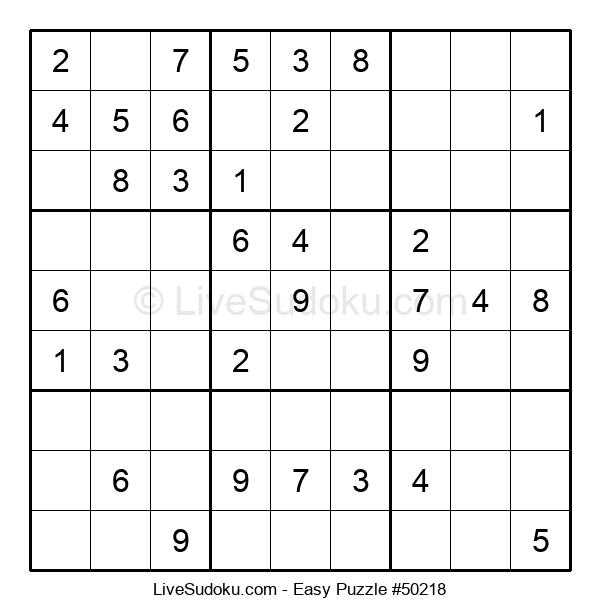 Beginners Puzzle #50218