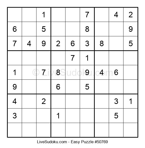 Beginners Puzzle #50769