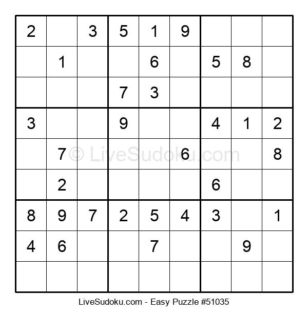 Beginners Puzzle #51035