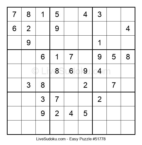 Beginners Puzzle #51778