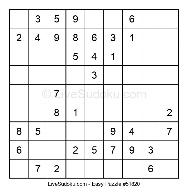 Beginners Puzzle #51820