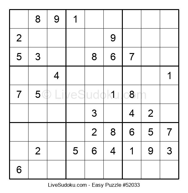 Beginners Puzzle #52033