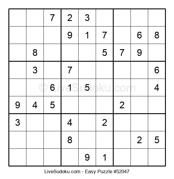Beginners Puzzle #52047