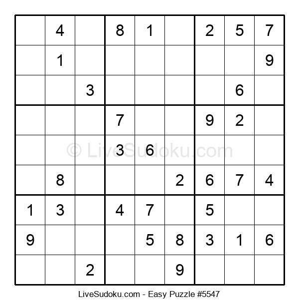 Beginners Puzzle #5547