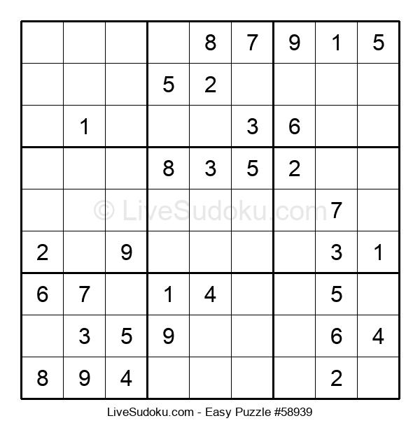 Beginners Puzzle #58939