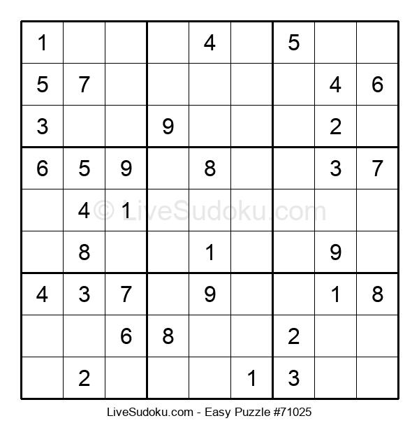 Beginners Puzzle #71025