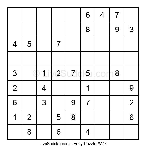 Beginners Puzzle #777
