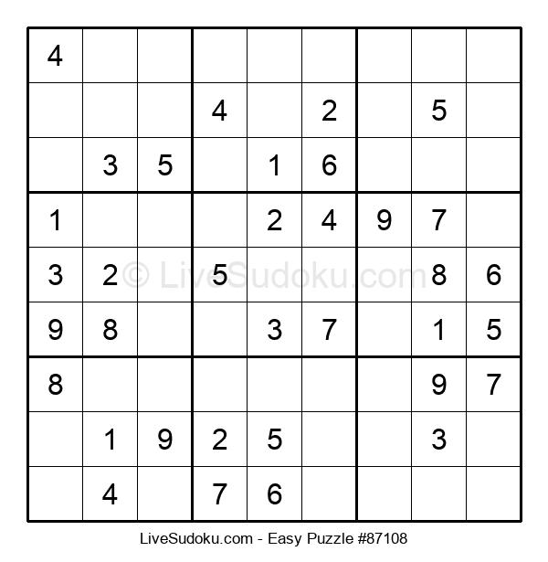 Beginners Puzzle #87108
