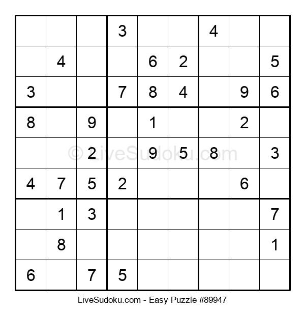 Beginners Puzzle #89947