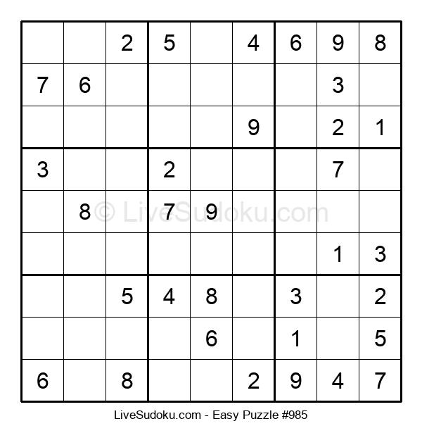 Beginners Puzzle #985