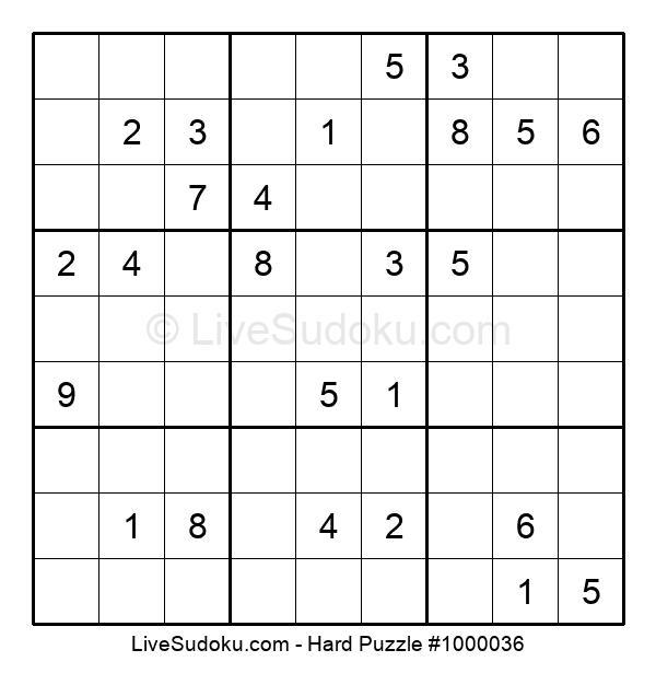 Hard Puzzle #1000036