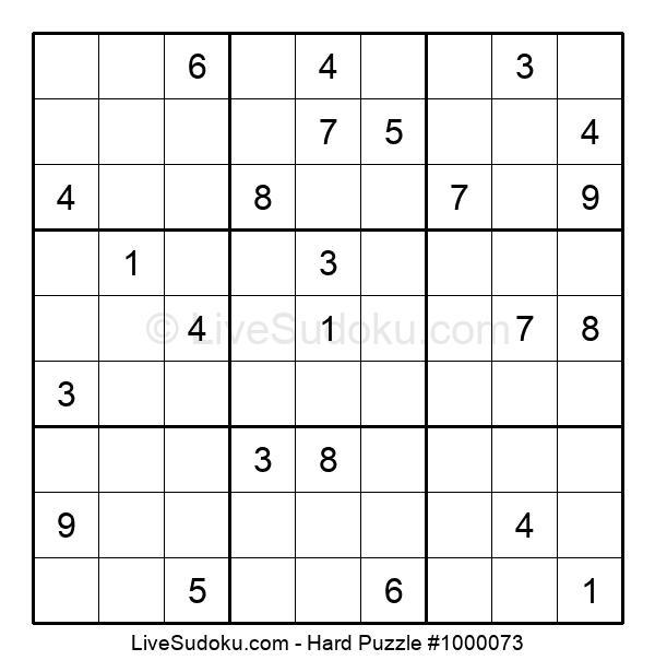 Hard Puzzle #1000073
