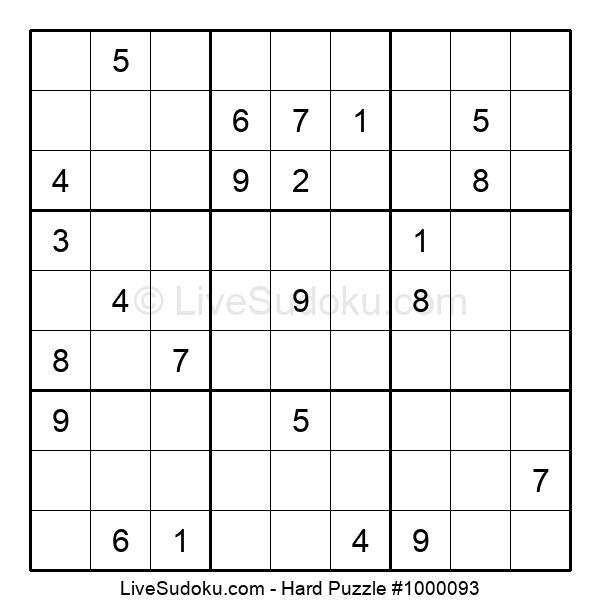 Hard Puzzle #1000093