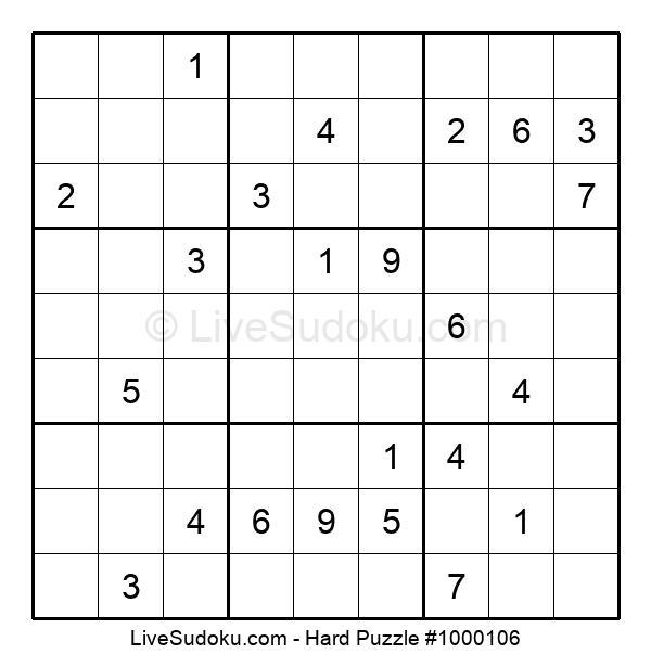 Hard Puzzle #1000106